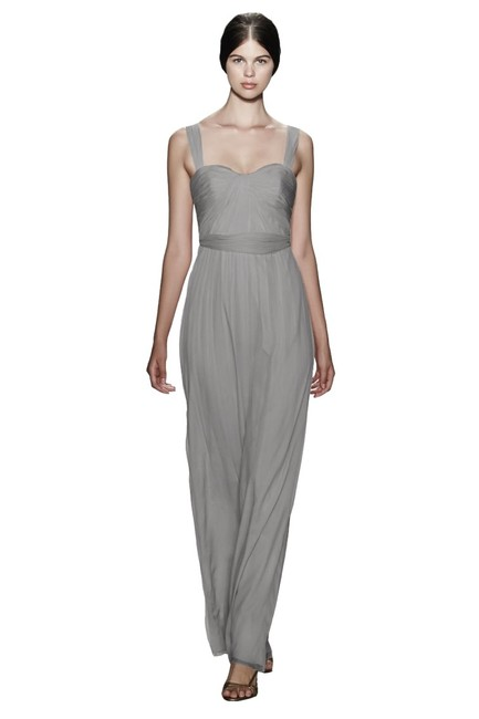 Item - Taupe Silk Bridesmaid/Mob Dress Size 6 (S)