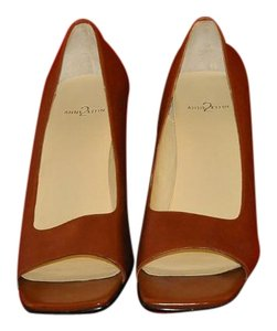 Anne Klein Color New Never Worn Stacked Narrow Profi Leather Uppers Tobacco - Tan Pumps