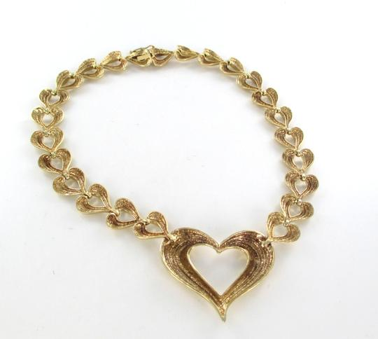 Other 14K SOLID YELLOW GOLD NECKLACE HEART VALENTINES LOVE DESIGN 56.1 GRAMS