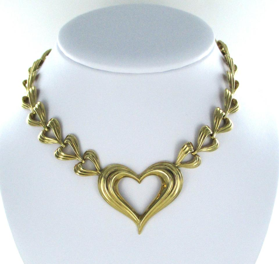 Gold 14k Solid Yellow Heart Valentines Love Design 56.1 Grams ...