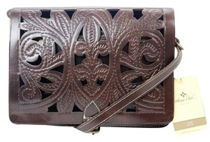 Patricia Nash Designs Cut Out Leather Rustic Hardware Cross Body Bag