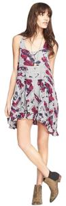 Free People short dress Smoke Combo Floral Lace on Tradesy