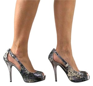 Guess Pump New Shoe Pewter Pumps