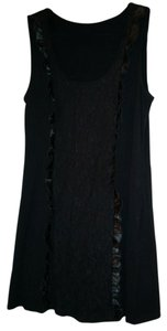 Cable & Gauge short dress Black Lace Ruffle Lbd Mini on Tradesy