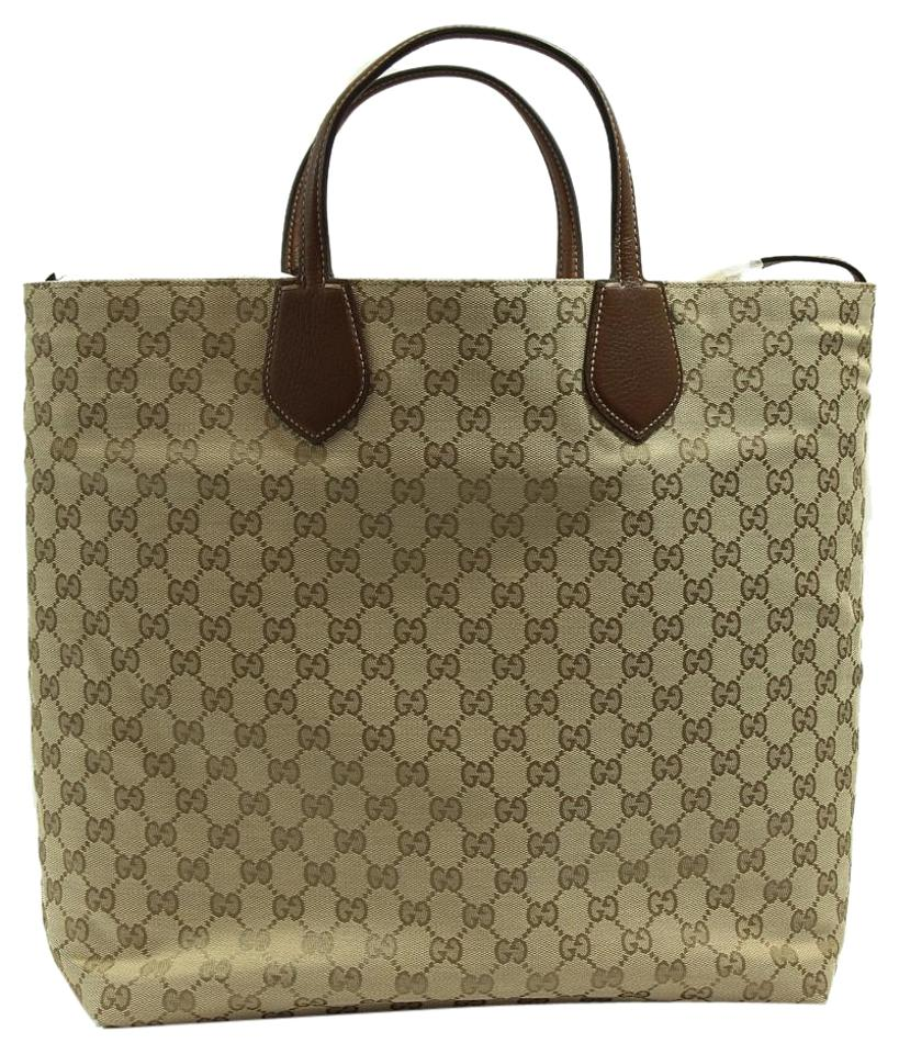 3196a91c8117 Gucci 370823 Ramble Reversible Leather/Original Nut Brown / New Sand ...