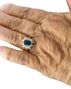 Chatham Emeralds Chatham Emerald with 2.5 carets diamonds