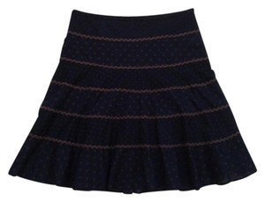 BCBGMAXAZRIA Skirt Navy / Brown