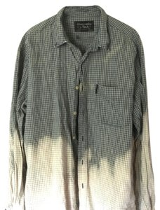 Abercrombie & Fitch Button Down Shirt Green plaid