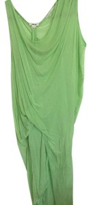 Lime Green Maxi Dress by Helmut Lang
