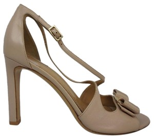 Salvatore Ferragamo Bisque Leather Sandals