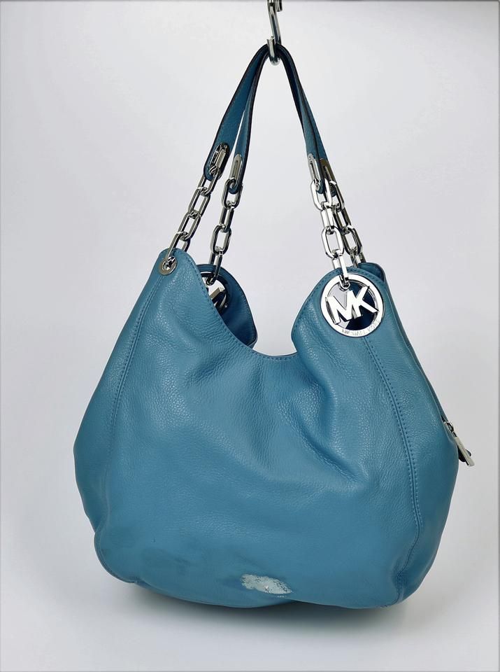15bdd1d3ee33 Michael Kors Fulton M207-89 B335 Blue Leather Shoulder Bag - Tradesy