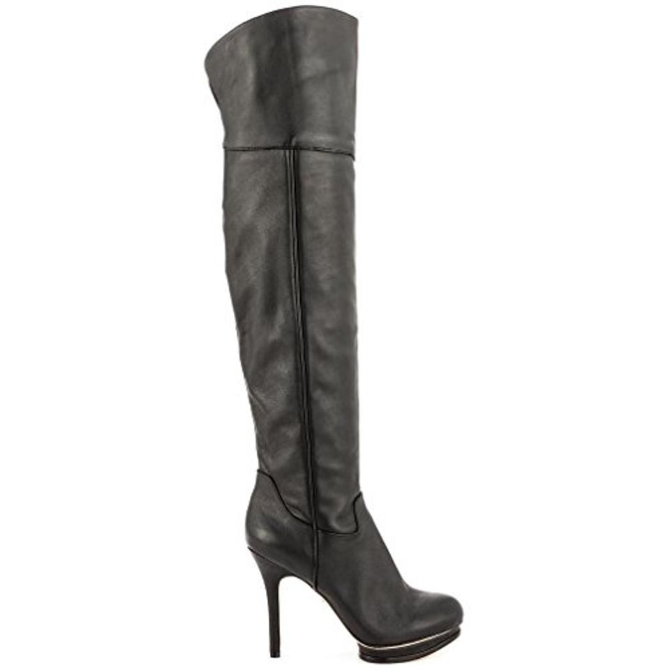 6055fd59a41 BCBGMAXAZRIA Black Bcbg Max Azeria Over The Knee Leather Thigh High  Boots/Booties Size US 7.5 Regular (M, B)