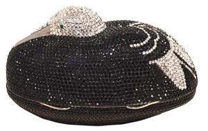 Judith Leiber Crystal Swarovski Crystal Minaudiere Evening black Clutch