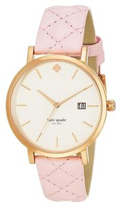 Kate Spade Kate Spade New York Metro Grand Quilted Pink Strap Watch