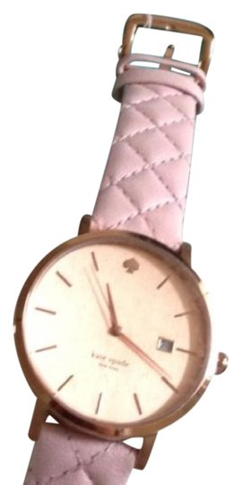 Kate Spade Kate Spade New York Metro Grand Quilted Pink Strap Watch Image 1