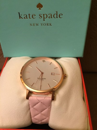 Kate Spade Kate Spade New York Metro Grand Quilted Pink Strap Watch Image 2