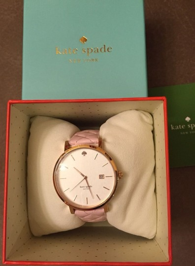 Kate Spade Kate Spade New York Metro Grand Quilted Pink Strap Watch Image 3
