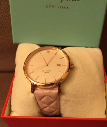 Kate Spade Kate Spade New York Metro Grand Quilted Pink Strap Watch Image 4