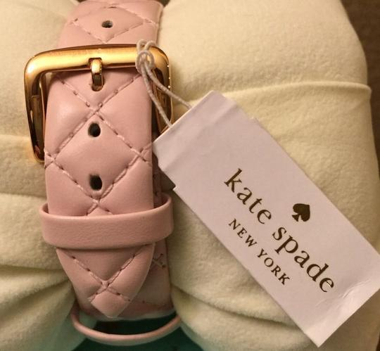 Kate Spade Kate Spade New York Metro Grand Quilted Pink Strap Watch Image 5