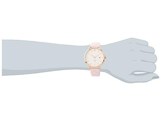 Kate Spade Kate Spade New York Metro Grand Quilted Pink Strap Watch Image 6
