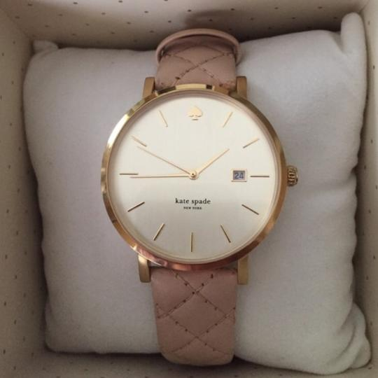 Kate Spade Kate Spade New York Metro Grand Quilted Pink Strap Watch Image 7
