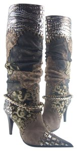 El Dantés 80% Off Retail Handmade In Spain Brown Bling Leather Boots