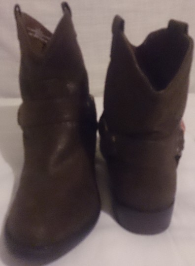 Mossimo Supply Co. Women's Western Cowboy Ankle brown Boots