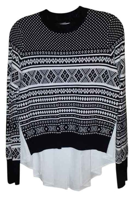Preload https://img-static.tradesy.com/item/17632858/veronica-beard-black-and-white-with-blouse-attached-sweaterpullover-size-6-s-0-1-650-650.jpg