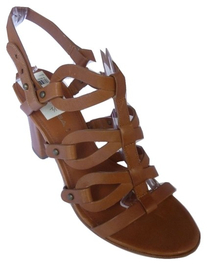 Via Spiga Leather Tan Brown Sandals