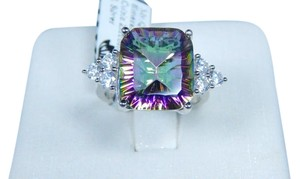9.2.5 Sterling Silver Classy cushion shape Mystic quartz ring