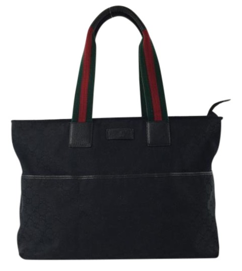 Preload https://item4.tradesy.com/images/gucci-monogram-black-canvas-leather-tote-1763293-0-2.jpg?width=440&height=440
