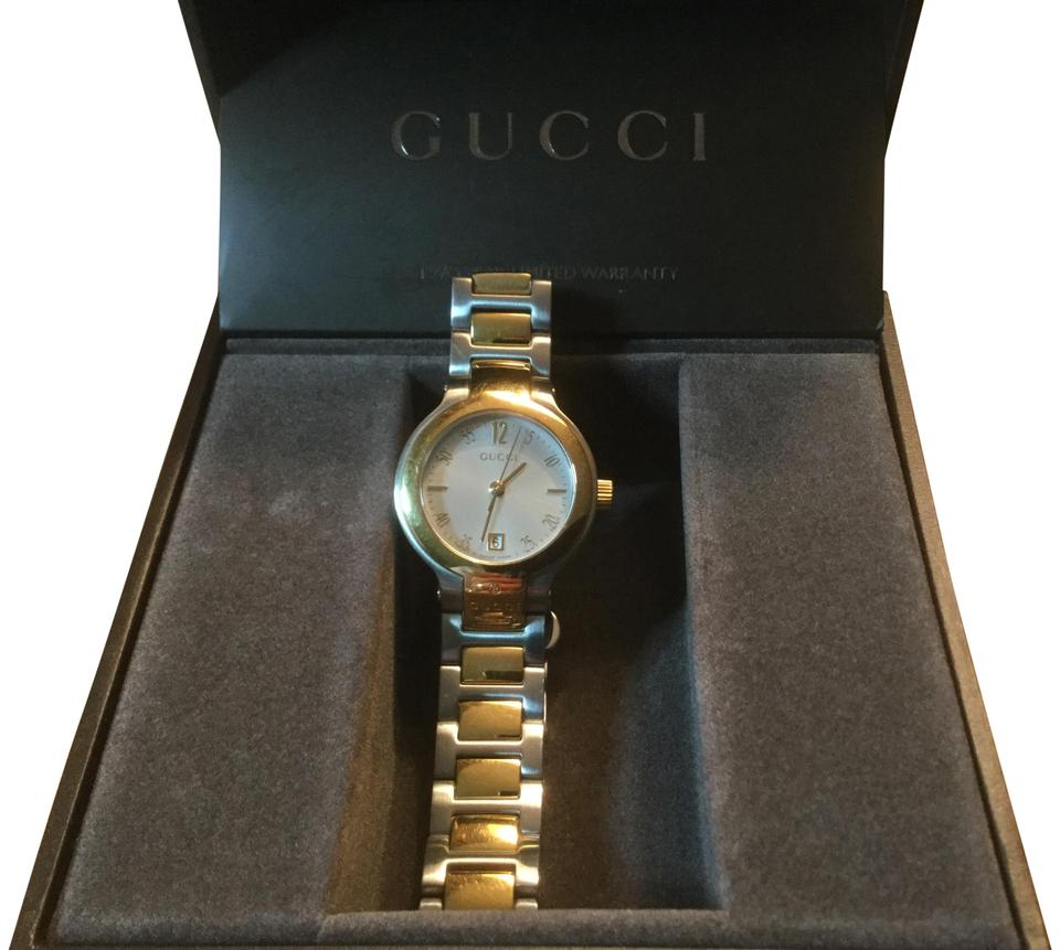 9e067afbb7b Gucci Stainless Steel with Gold Tone Ladies Two-tone 8900l Watch ...