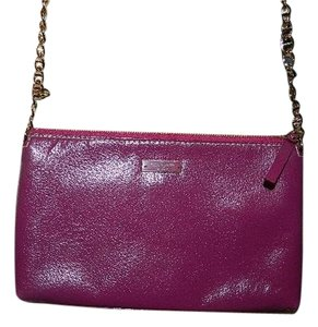 Kate Spade Unique Magenta Goldtone Leather Shoulder Bag