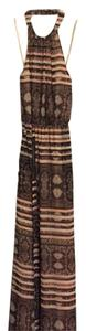 Brown Multicolored Maxi Dress by Jessica Simpson