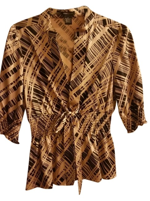 Item - Blac and Gold Blouse Size 10 (M)