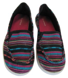 Airwalk Size 7.00 M Good Condition Black, Turquoise, Pink, Flats