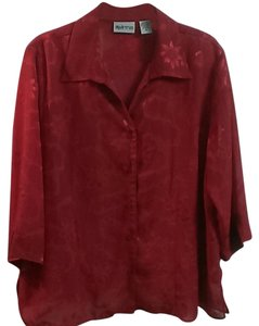 Apparenza Sheer Top Red