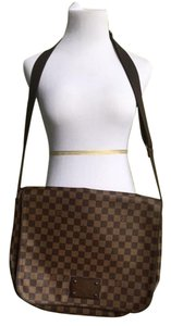 Louis Vuitton Cross Body Damier Leather Brown, Damier Messenger Bag