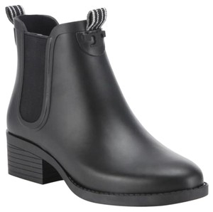 Tory Burch Rain Boot Rubber Wellies Black Boots
