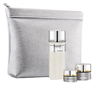 la prairie La Prairie Metallic Gray Cosmetics/Makeup Bag/Case