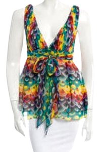 Tibi Silk Top Multi/rainbow
