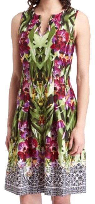 Item - Purple Green Above Knee Night Out Dress Size 8 (M)
