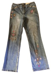 J. Jill Hippie Straight Leg Jeans-Medium Wash