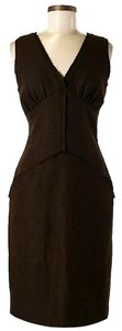 Fendi short dress Brown Virgin Wool Shift Sheath on Tradesy