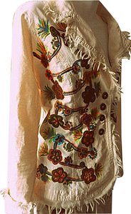 Lirome Boho Cottage Chic Ethnic Country Summer Nude Womens Jean Jacket