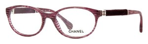Chanel 3261 Eyeglasses Glasses Red Cyclamen Glitter Velvet Touch Marbled CC