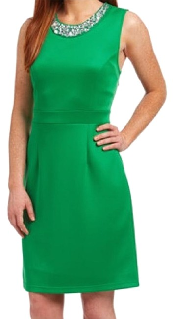 Item - Green Accessories Above Knee Night Out Dress Size 8 (M)