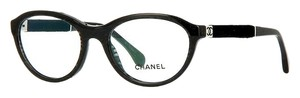 Chanel 3266 Eyeglasses Glasses Blue Green Glitter Velvet Touch Marbled CC