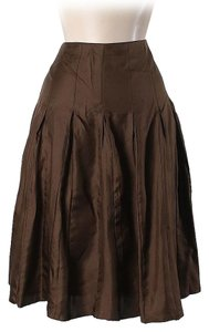 Burberry Silk Skirt Brown