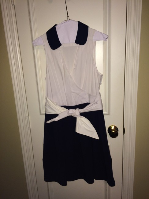 Anthropologie short dress White/Navy on Tradesy